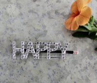 Hairclip - Happy strass
